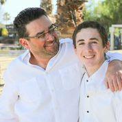 Dr Derek B Hauser and his son Logan